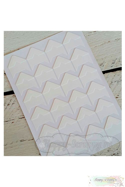 Уголки для фото бумажные - белые