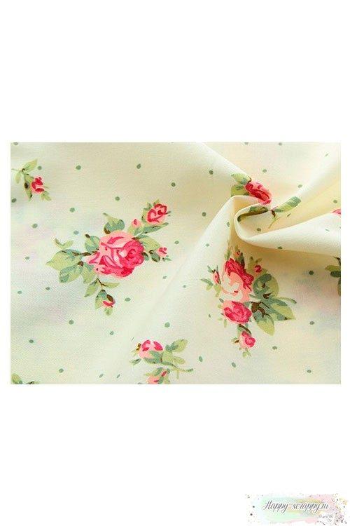 Ткань Розы на светлом