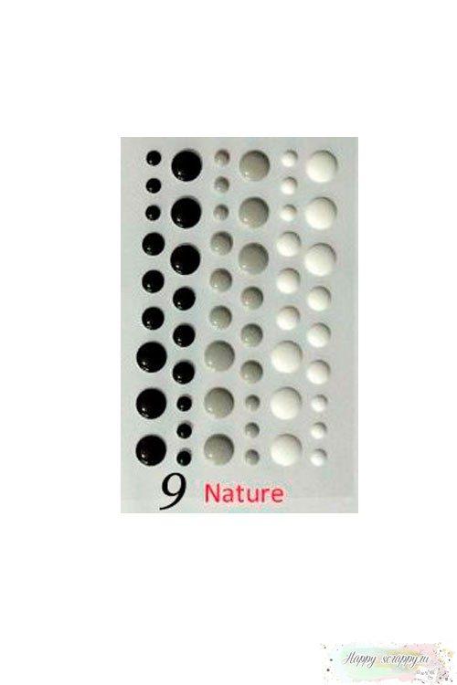 Эмалевые капли (дотсы) - Натуральные