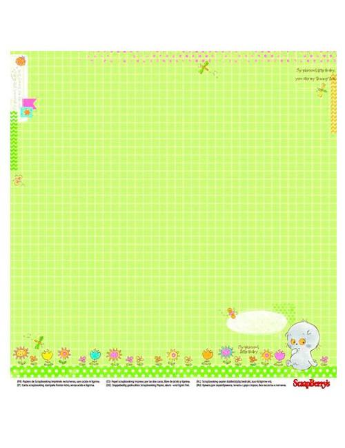 Бумага для скрапбукинга Веселое детство - Первые цифры