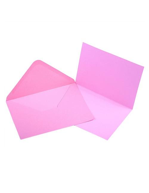 Заготовка для открытки с конвертом Craft Premier - розовая