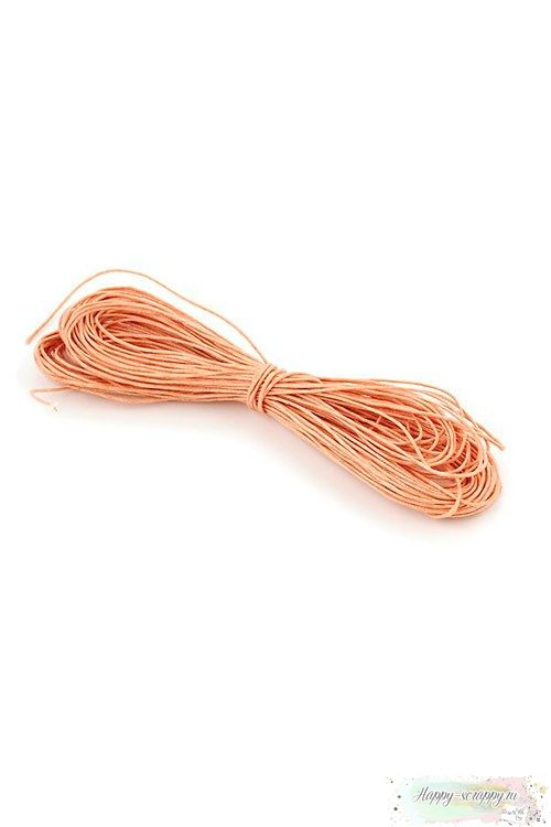Шнур вощеный персиковый 1,2 мм
