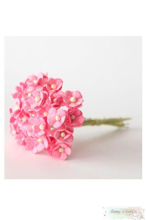Цветы мини-вишни розовые (10 шт)
