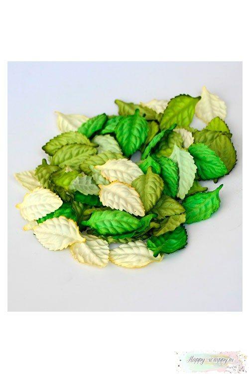 Листья зеленый микс (10 шт)