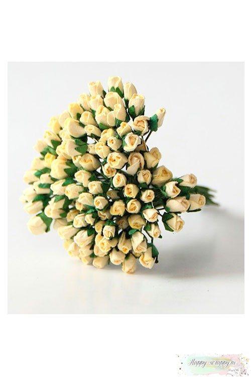 Микро бутоны роз - св.желтые (10 шт)
