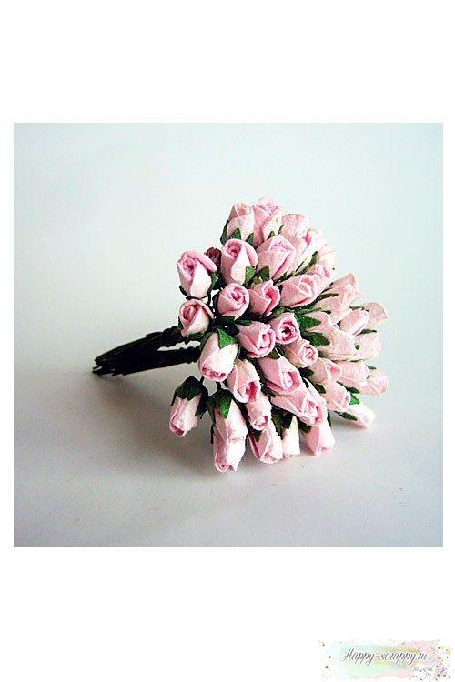 Микро бутоны роз - розовые (10 шт)