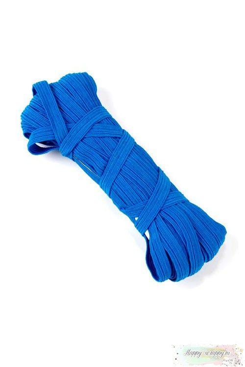 Резинка плоская синяя 7 мм