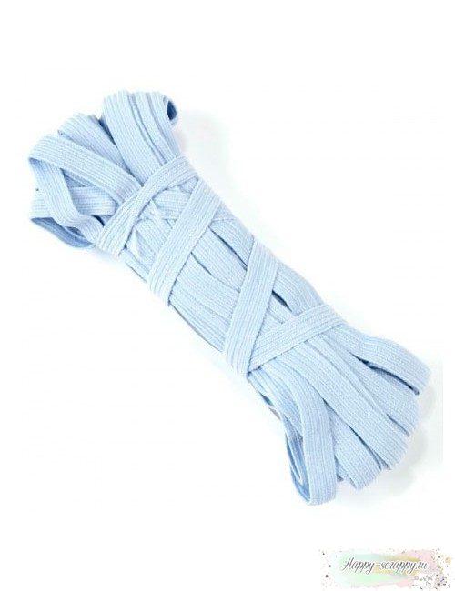 Резинка плоская св-голубая 7 мм