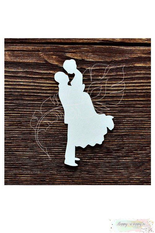 Чипборд из картона Жених и невеста