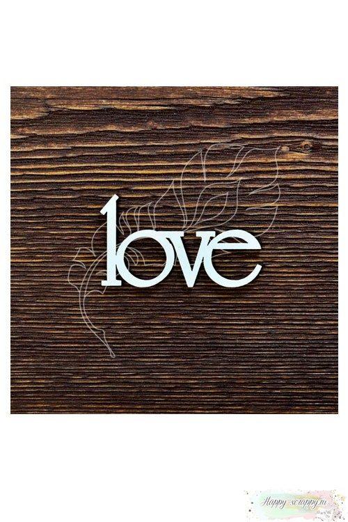 Чипборд из картона love