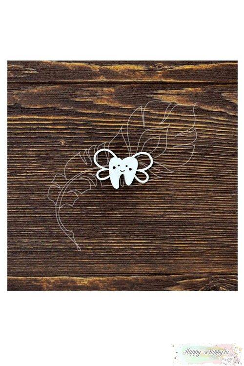 Чипборд из картона Зубик с крылышками