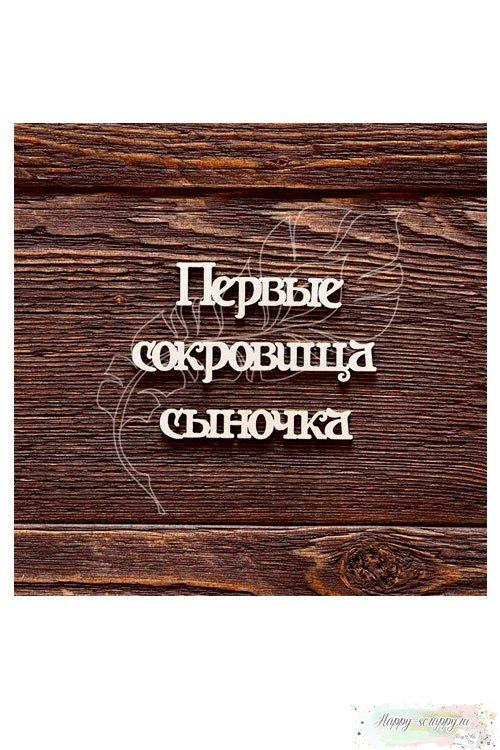Чипборд из картона Первые сокровища сыночка