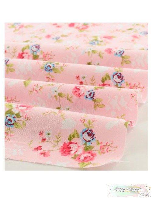 Ткань Розы на розовом