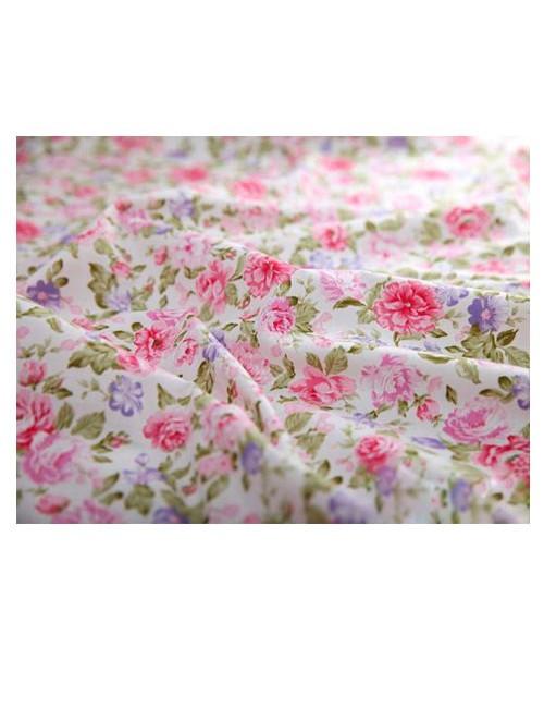 Ткань Розово-сиреневые цветы