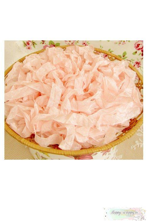 Шебби лента Жемчужный розовый 1м