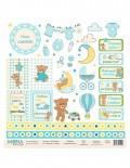 Бумага для скрапбукинга Мой малыш - Карточки 2