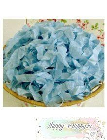 Шебби лента Королевский голубой 1м