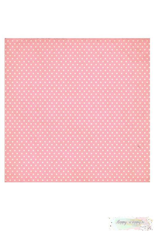 Бумага для скрапбукинга Сладко - Розовый горох