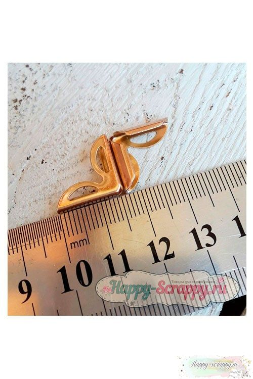 Металлический уголок лепестки золото - 1,6x1,6 см
