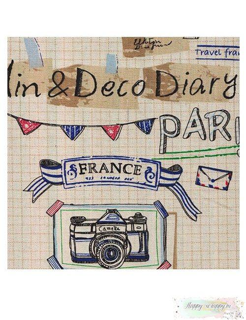 Ткань лен - Париж (50х50 см)