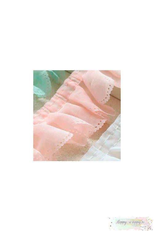 Оборка шифоновая - розовая (45 см)