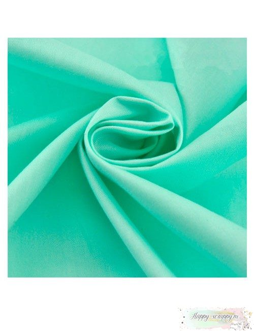 Ткань мятная однотонная