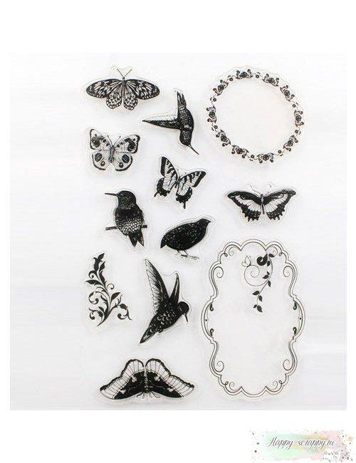 Набор штампов Птицы и бабочки