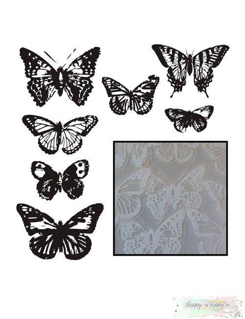 Набор высечек из оверлея Бабочки (Vintage Butterflies-White)
