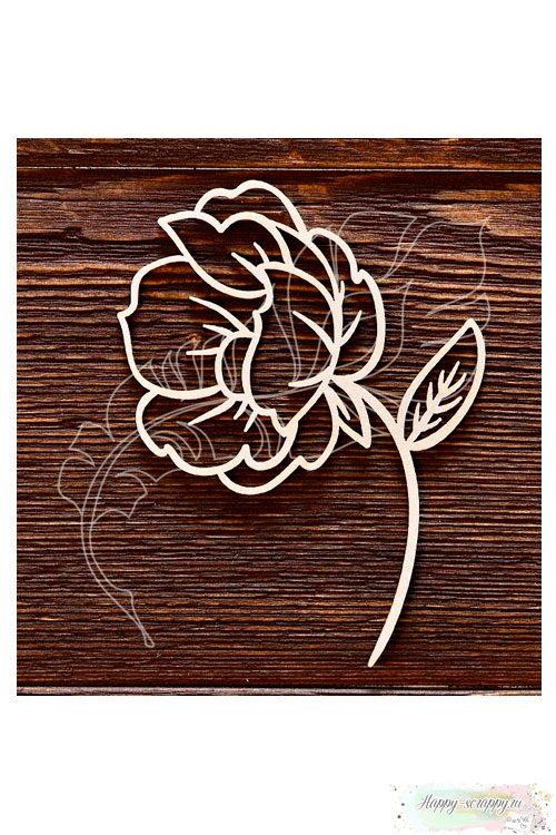 Чипборд из картона Цветок