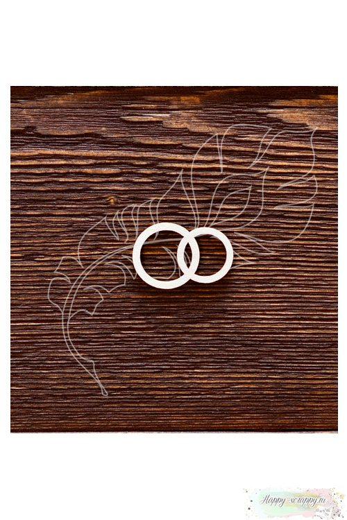 Чипборд из картона Обручальные колечки
