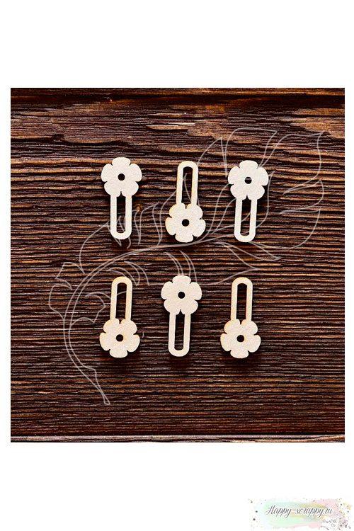 Чипборд из картона Набор анкеров цветочек