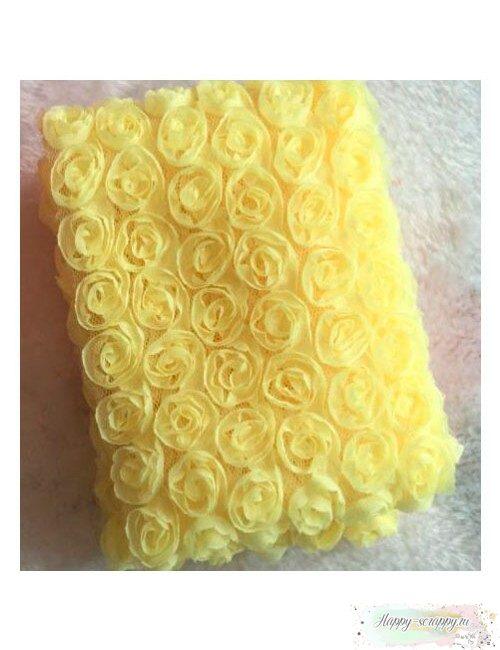 Розы на сетке - желтые (10 см)