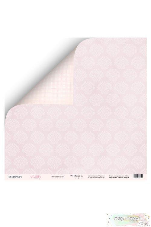 Бумага для скрапбукинга Little Bunny - Лиловые сны