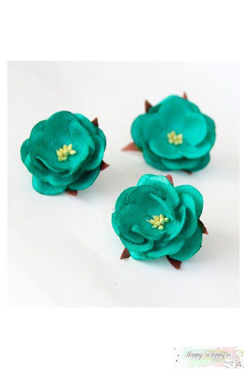 Дикая роза - темно-бирюзовая (1 шт)