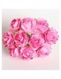 Кудрявые розы 2 см - розовые (5 шт)