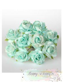Кудрявая роза 3 см - мятная (1 шт)