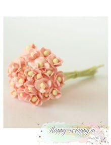Цветы вишни розовоперсиковые (5 шт)