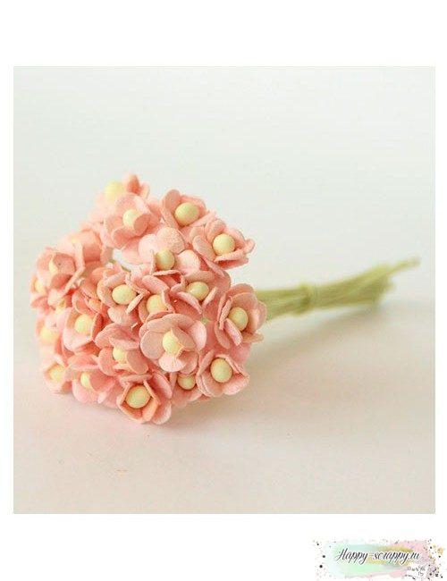 Цветы светло-розовоперсиковые (10 шт)