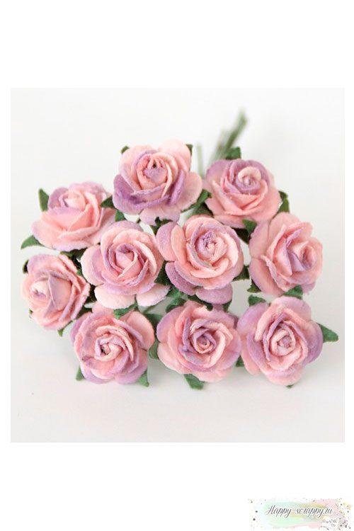 Розы сиренево-розовые (5 шт)