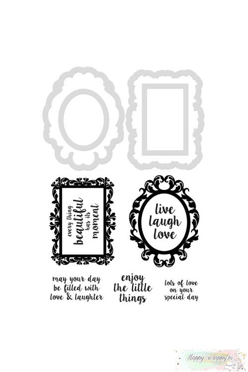 Нож и штампы Kaisercraft - Decor Frames/Quotes