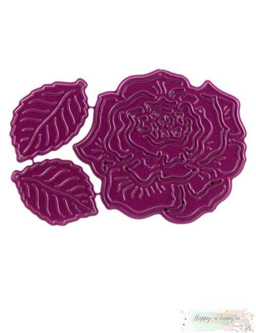 Нож Роза с листьями (Rose&Leaves) Cheery Lynn Designs