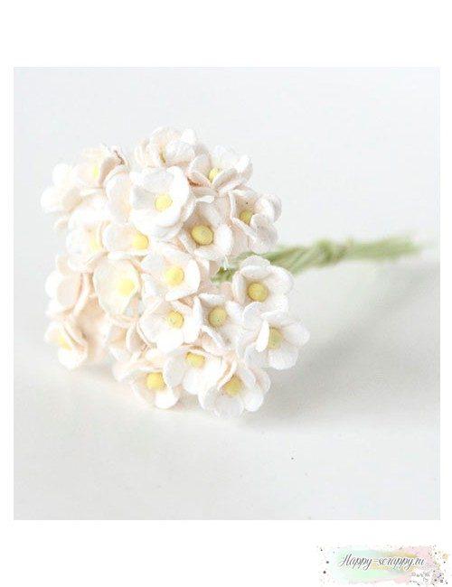 Цветы мини-вишни белые (10 шт)