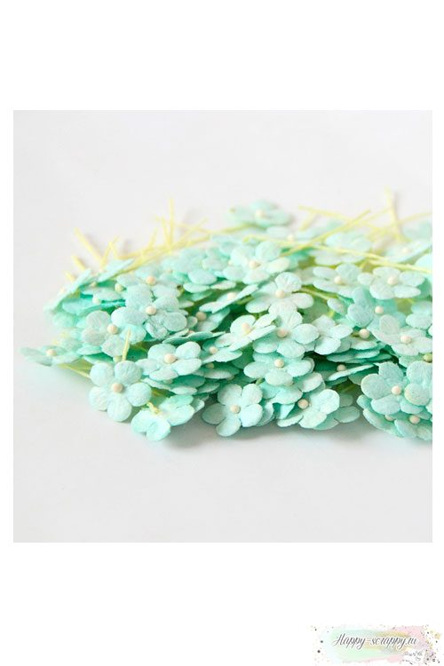 Цветочки маленькие 1 см - мятные (10 шт)