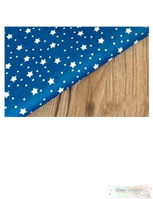 Ткань белые звезды на синем