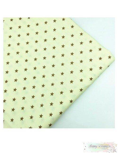Ткань звезды на светло-желтом
