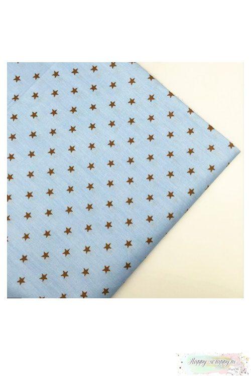 Ткань звезды на голубом