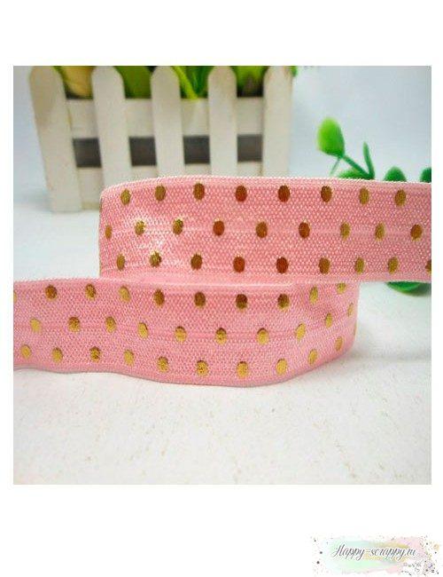 Резинка золотой горох на розовом (90 см)