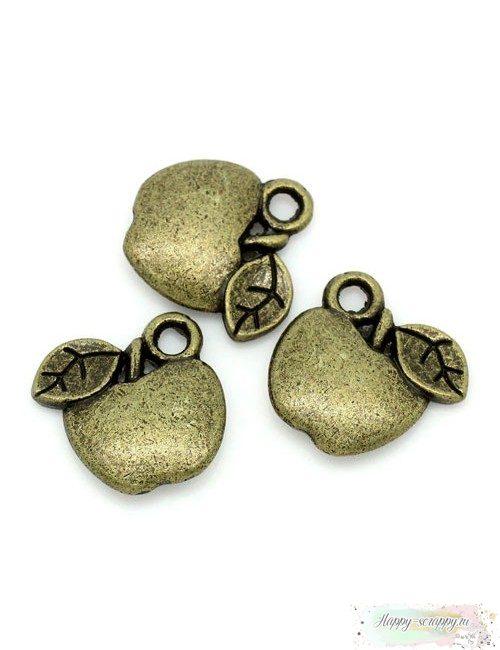 Металлическая подвеска Яблочко бронзовое