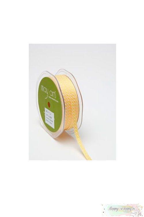 Лента шеврон узкая - желтая (90 см)