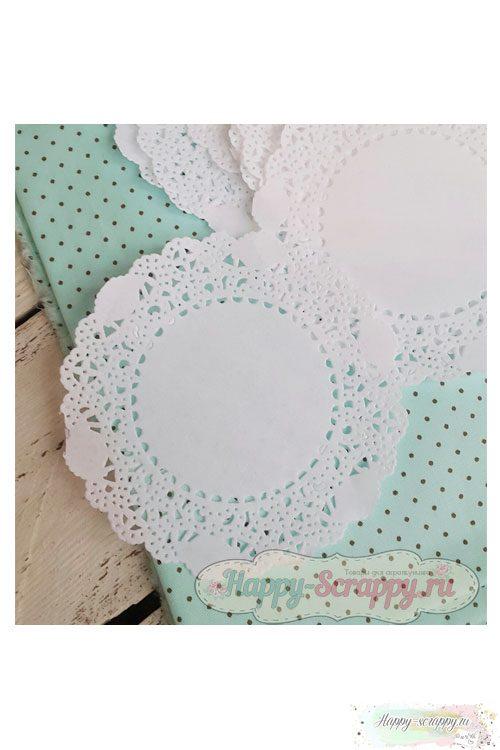 Салфетки бумажные белые 10 см